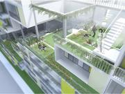 Nan Huang's 2012 thesis envisions a stepped building emphasizing open-air planters.