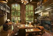 The home features an elaborate two-story library.The history:Blazer sold the house in 2005 to Frank Spitzer, sight unseen, according to an article on Forbes.com from July 2010.