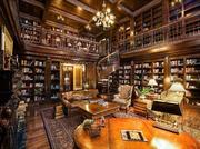 The library is designed to mirror that of the historic Vanderbilt mansion, and includes thousands of first-edition books.The history:At the time Spitzer acquired it, the estate was called Chateau du Lac.