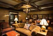 The game room evokes the feel of a traditional gentlemen's lounge.The history:The estate was placed on the open market with a list price of $19.5 million earlier this year.