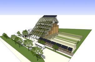 Rendering of Growing Power's planned vertical greenhouse.