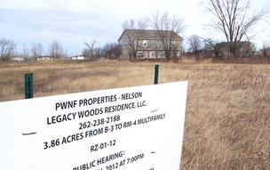 A Michigan developer has offered to purchase this vacant parcel on the northeast corner of Airline Road and Kinzie Avenue in Mount Pleasant for a senior housing project.