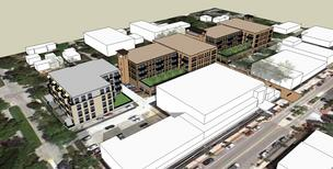Milwaukee-based Mandel Group Inc. is planning to build apartments to replace parking lots between North Santa Monica Boulevard and North Consaul Place in Whitefish Bay.