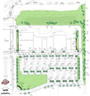 At full build-out, the second phase at the Shoppes at Fox River would have a tree-lined surface parking lot with 341 spaces.