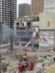 The Marriott hotel is being built on North Milwaukee Street in downtown Milwaukee. Click here for story