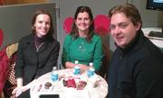 Theresa Nemetz (left), Sandy Oliver and Wade Nemetz of Milwaukee Food Tours sample the chocolates.