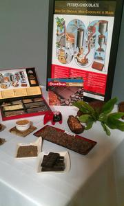 The cafe will offer information about chocolate and its history.