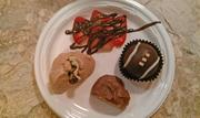 Offerings include red velvet cake pops, chocolate-covered strawberries and chocolate whipped cream.