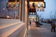 The cafe is near the Milwaukee Intermodal Station.