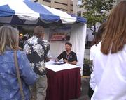 Michael Andretti signed autographs and chatted with fans at Thursday's street festival.