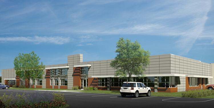 Rendering of Exhibit Systems' new 46,000-square-foot building at 12600 W. Burleigh Road in Brookfield.