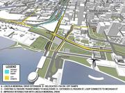The on- and off-ramps that connect North Lincoln Memorial Drive to Interstate 794 will be relocated when the interchange is rebuilt starting in 2016.