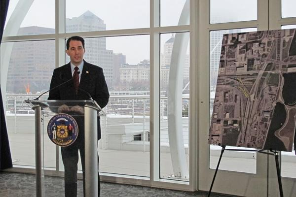"""Gov. Scott Walker...""""It's pretty hard to argue that we don't have a positive place for Milwaukee.""""--------------------------------------Walker's listState-funded projects and initiatives in Milwaukee that Gov. Scott Walker highlighted in a recent meeting with The Business Journal. See the following slideshow to see some of those projects."""