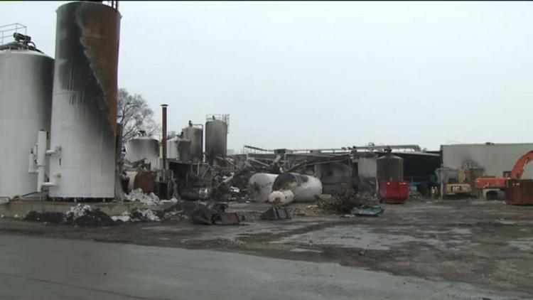 Echo Lake Foods' plant in Burlington was devastated by fire in January.