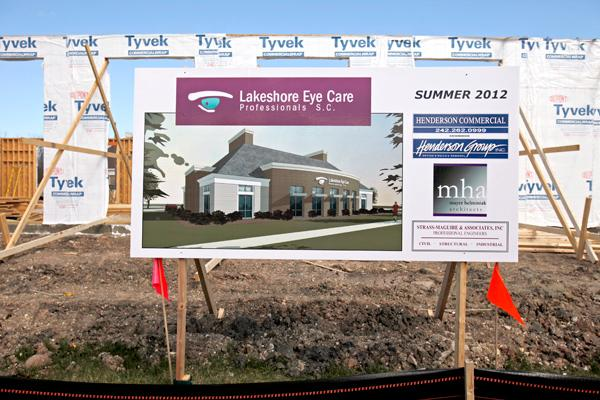 A 6,280-square-foot building for Lakeshore Eye Care Professionals is currently under construction at 10320 N. Port Washington Road.