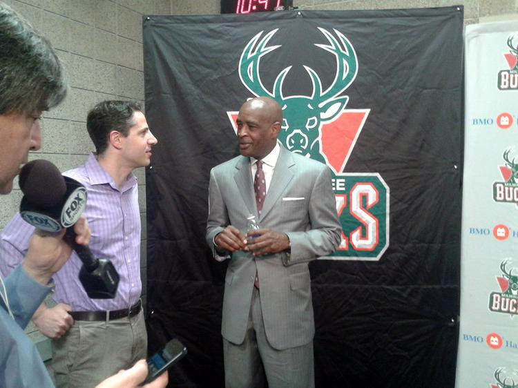 Larry Drew was introduced as the new head coach of the Milwaukee Bucks Monday.