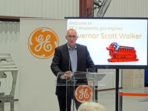 Brian White, president of GE's Waukesha gas engines business, the former Waukesha Engine.