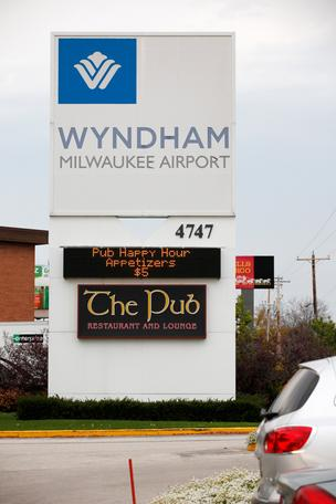 The Wyndham Milwaukee Airport Hotel closed in December.