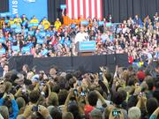 Obama urged his supporters to get out and vote on Tuesday.