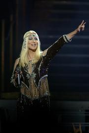 Cher appeared at the Bradley Center on July 13, 2002.