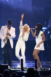 Christina Aguilera was at the Bradley Center on April 20, 2007.