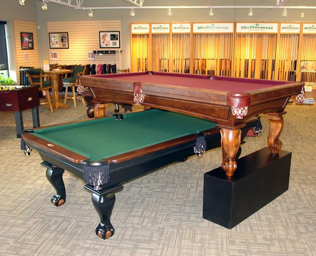The larger showroom will allow McDermott to display its pool cues and accessories, as well as game room gear like pool tables, foosball tables, air hockey tables, shuffleboard tables and billiard lights.
