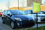 Zipcar's east side expansion also includes a Toyota Prius. This Prius was introduced locally when Zipcar came to Marquette University in Milwaukee.