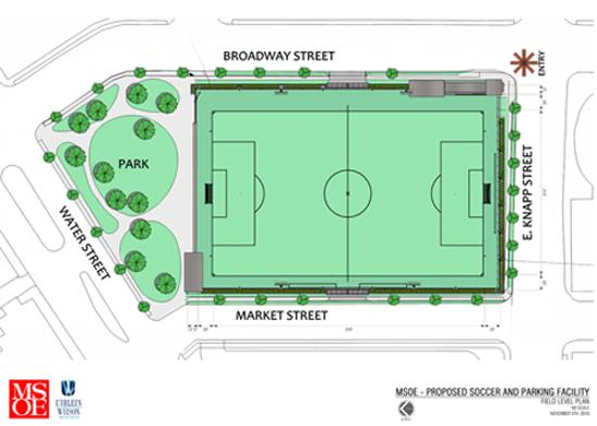 Map of the proposed site