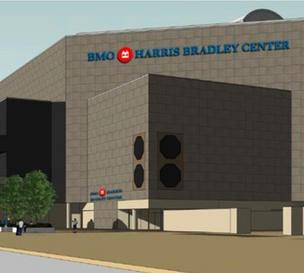 Rendering of the BMO Harris Bradley Center with its new name