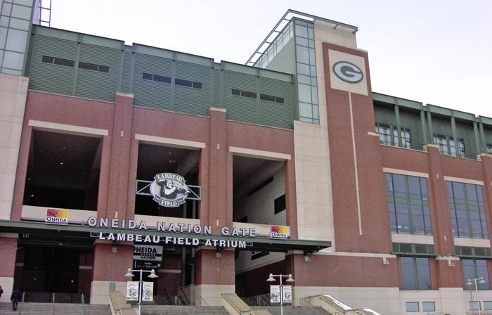 The Oneida Nation sponsors the east gate at Lambeau Field.