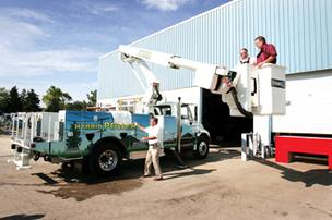 Dueco's products include hybrid utility trucks.