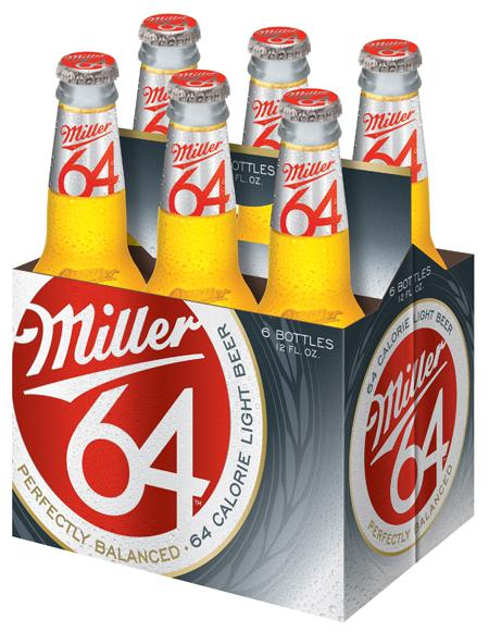 MillerCoors is advertising its rebranded Miller64, the former MGD 64, along with its flagship brands Miller Lite and Coors Light, during TV broadcasts of NCAA men's basketball tournament games