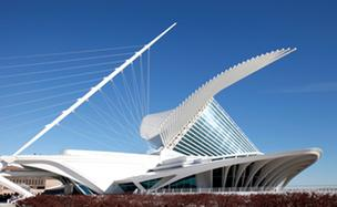 The Milwaukee Art Museum on Milwaukee's lakefront