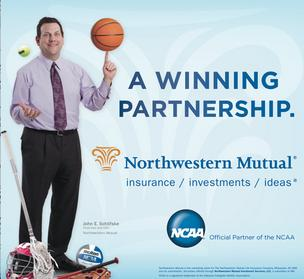 Northwestern Mutual is sponsoring the NCAA tournament with ads that feature CEO John Schlifske.