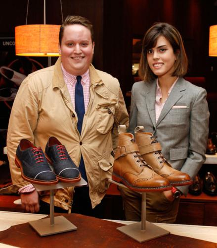 Allen Edmonds competition winners, Parsons students' Patrick McCabe and Melanie Berger, with their winning designs.