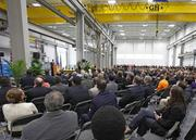 The State of the City address was held at Ingeteam's Menomonee Valley factory.