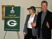 Laurie Winters and Wayne Larrivee spoke a few words at the event.