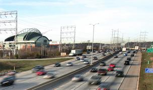 The Stadium Interchange near Miller Park is along Interstate 94 between the newly rebuilt Marquette Interchange and the Zoo Interchange.