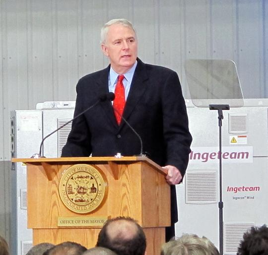 Job creation and training were the focal points of Milwaukee Mayor Tom Barrett's State of the City speech Monday.