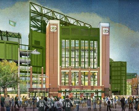 The renovation of Lambeau Field will include a new south entrance that will be called Shopko Gate.