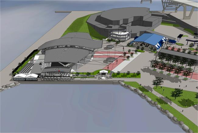 A covered stage will replace the M&I Classic Rock Stage under phase II of the redevelopment of the south end of the Summerfest grounds.