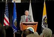 UWM chancellor Michael Lovell also spoke during the event, which was held on the university's campus Monday morning.