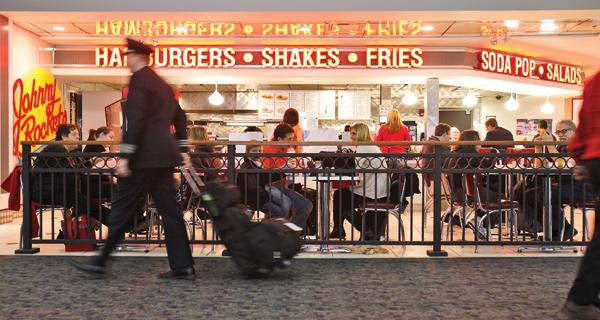 Thirteen restaurants have opened at General Mitchell International Airport since 2009, including Johnny Rockets.