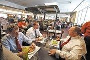 Travelers dine at Nonna Bartolotta's in Mitchell's Concourse D.