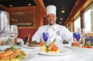 Executive chef Jerry Taylor at The Anchorage, which has undergone a $250,000 overhaul.