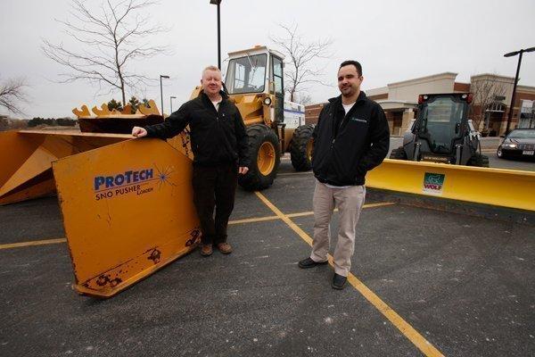 Villani Landshapers' vice president Darrell Dulak (left) with Paul Villani, director of operations.