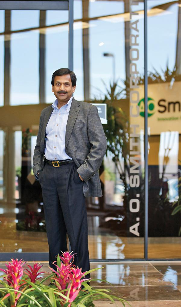 Ajita Rajendra will take over as president and CEO of Milwaukee-based A.O. Smith Corp. in January 2013.