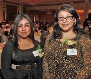 Scholarship winners included Alverno College students Fabiola Rodriguez (left) and Juanita Wilson
