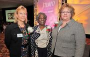 From left, Ruth Kallio-Mielke of corporate recipient, Deloitte; with honorees Dr. Earnestine Willis of Medical College of Wisconsin and Lisa Froemming of Columbia St. Mary's Foundation.