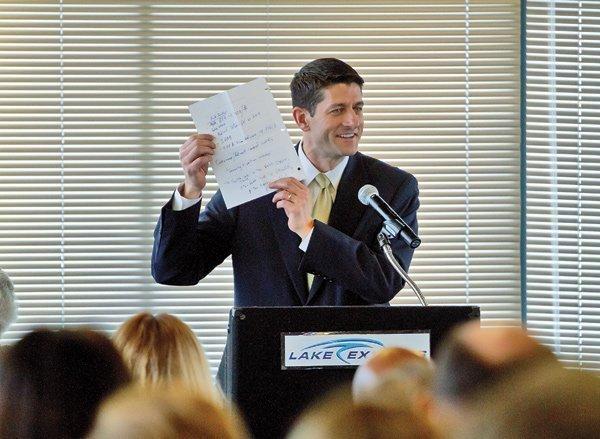 Republican vice presidential nominee Paul Ryan.